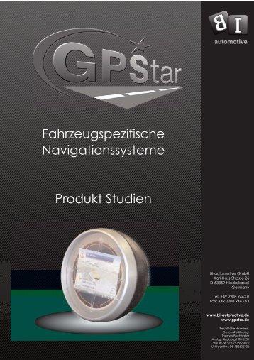 Fahrzeugspezifische Navigationssysteme Produkt Studien - GPStar