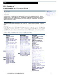 IBM System x Configuration and Options Guide - IBM Quicklinks
