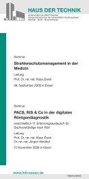 HAUS DER TECHNIK - Forum Röntgenverordnung