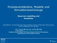 Prozessverständnis, Modelle und Simulationswerkzeuge