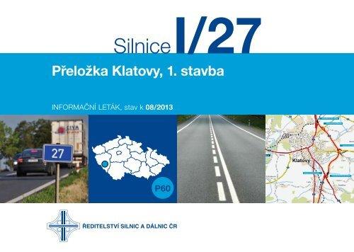 Silnice I/27 Přeložka Klatovy, 1. stavba - Ředitelství silnic a dálnic