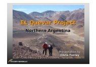 EL Quevar Project