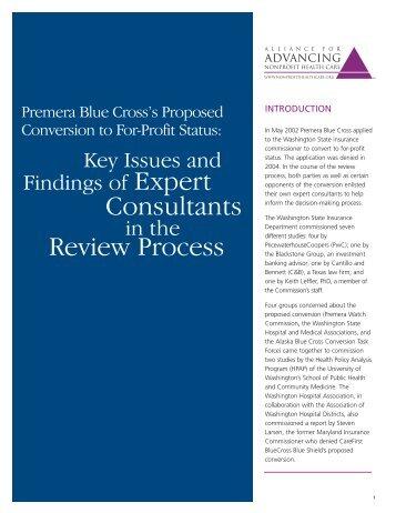 Premera Blue Cross's Proposed Conversion to For-Profit Status