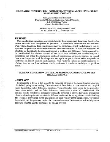 RESUME ABSTRACT - Transactions of the Canadian Society for ...