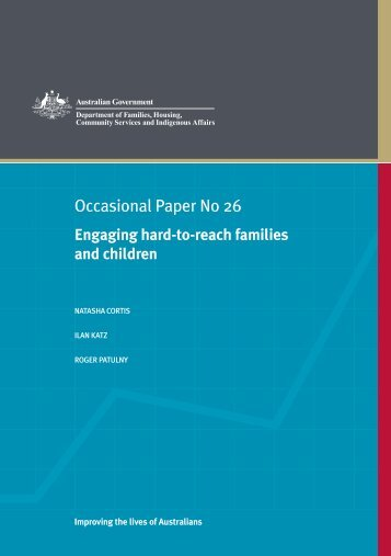 Engaging hard-to-reach families and children - Social Policy ...