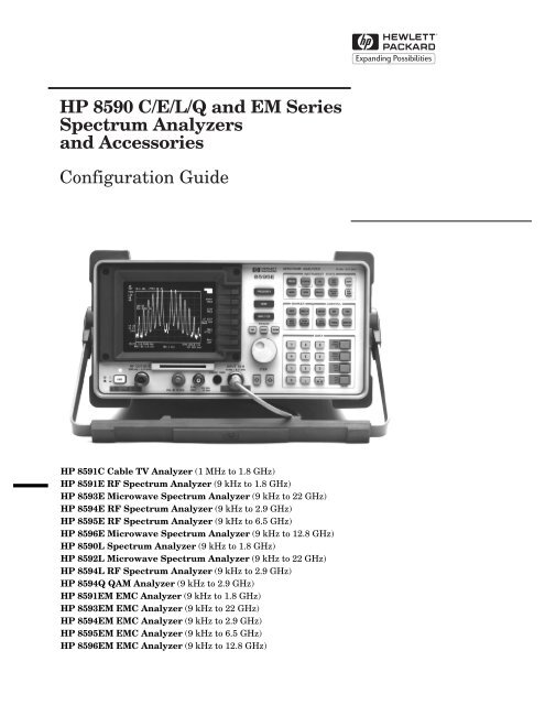 8591C Programmers Guide HP 8590 E /& L Series Analyzer 08590-90235
