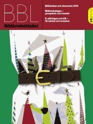 Biblioteken och ekonomin 2010 - Biblioteksbladet