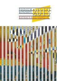 Programm 2013 - PODIUM Konzerte im Rathaus-Saal Vaduz ...