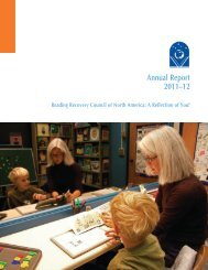 View current 2011-12 Annual Report - Reading Recovery Council of ...