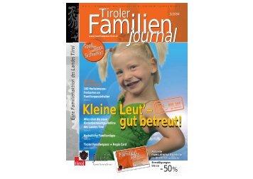 Journal 3/04 - Tirol - Familienpass