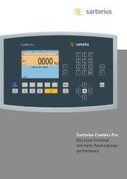Sartorius Combics Pro Das neue Terminal mit mehr Anwendungs  ...