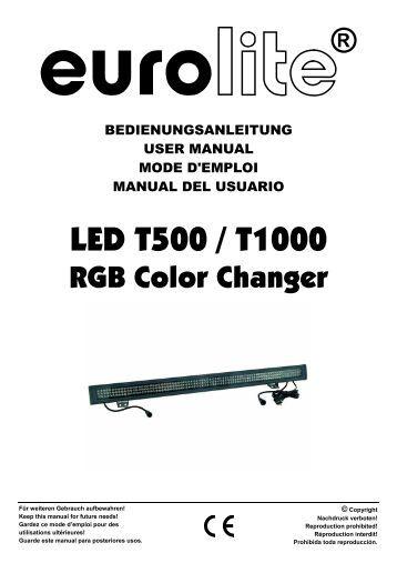 EUROLITE LED PAR-64 RGB Spot short User Manual