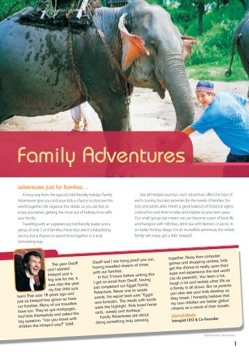 Family Adventures - Intrepid Travel
