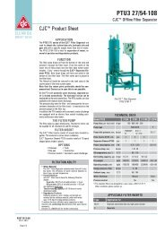 Product Sheet CJC Filter Separator PTU3 27 - Cjc.dk