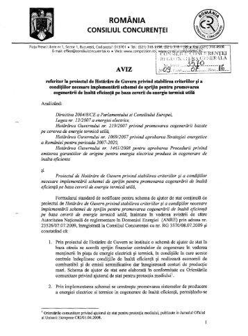 ROMÂNIA CONSiliUL CONCURENTEI - Reteaua Nationala de ...