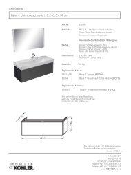 Technisches Informationsblatt - Kohler