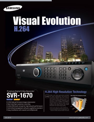 DVR 16 canale Samsung SVR-1670 - GTO Security Technologies