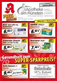SUPER-SPARPREIS! - Apotheke am Hünstein Dautphetal