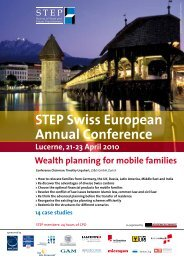 STEP Swiss European Annual Conference - KENDRIS The Wealth ...