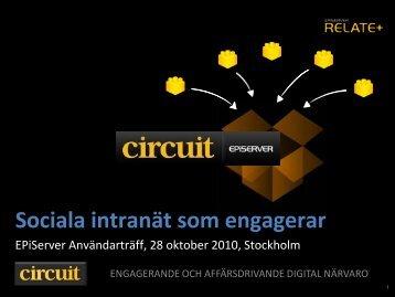Sociala intranät som engagerar - EPiServer World