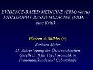 EVIDENCE-BASED MEDICINE (EBM) versus PHILOSOPHY-BASED ...