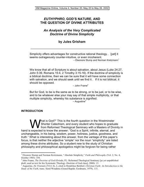 euthyphro analysis