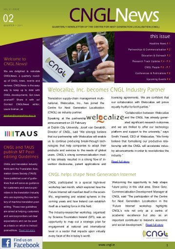 CNGL Newsletter Vol 1 Issue 2