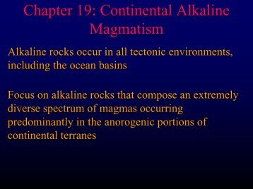 Chapter 19: Continental Alkaline Magmatism - Faculty web pages