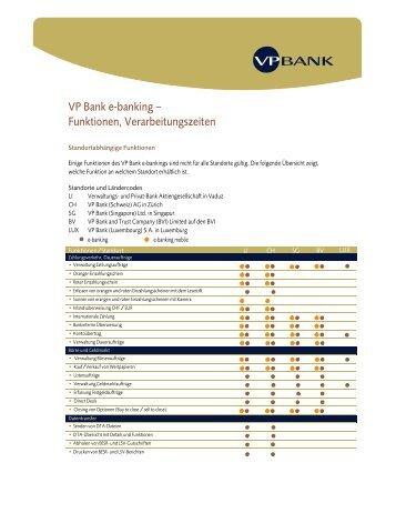 e-banking factsheet - VP Bank