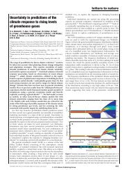 Uncertainty in predictions of the climate response to rising levels of ...