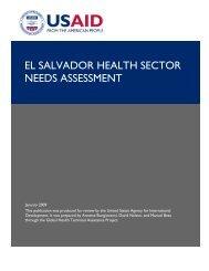 pdf - el salvador health sector needs assessment - GH Tech
