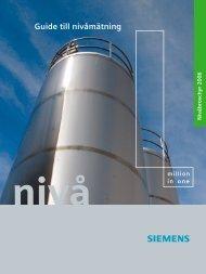 Guide till nivåmätning - Siemens