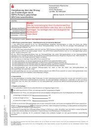 Vereinbarung zum Einzug von SEPA-Firmen-Lastschriften