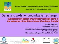 Dams and wells for groundwater recharge. - cazalac