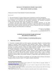 Kursinių ir magistro darbų rengimo metodiniai nurodymai