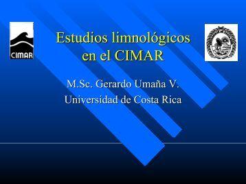 Estudios limnológicos en el CIMAR
