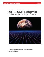 Business 2010: Financial services Embracing the challenge of change