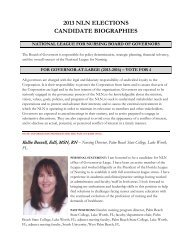2013 nln elections candidate biographies - National League for ...