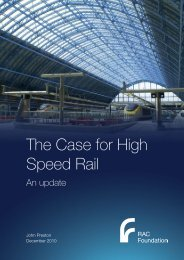 The Case for High Speed Rail - An update - Preston - RAC Foundation