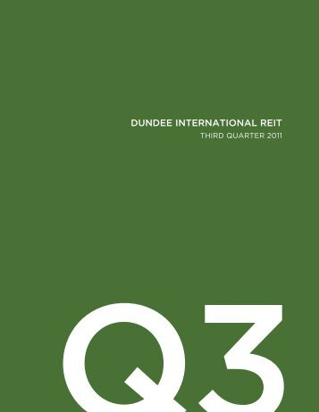 DUNDEE INTERNATIONAL REIT