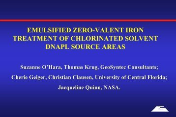 emulsified zero-valent iron treatment of chlorinated solvent dnapl