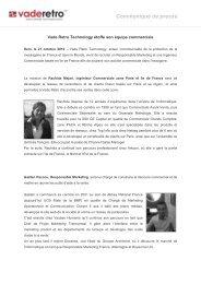 28/10/2010 - Vade Retro Technology étoffe son équipe commerciale