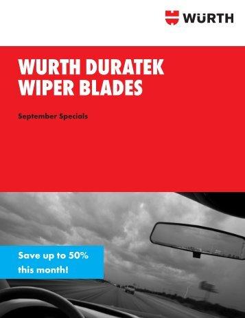WURTH DURATEK WIPER BLADES - Wurth USA