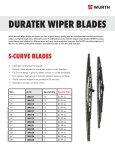 WURTH DURATEK WIPER BLADES - Wurth USA - Page 2