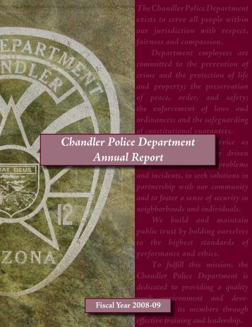 2008-2009 Annual Report - Chandler Police Department