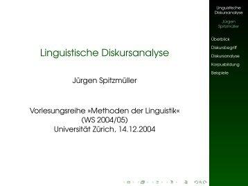 Linguistische Diskursanalyse - Jürgen Spitzmüller
