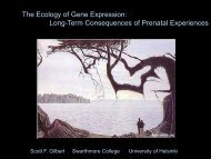 The Ecology of Gene Expression - National Institute of Child Health ...