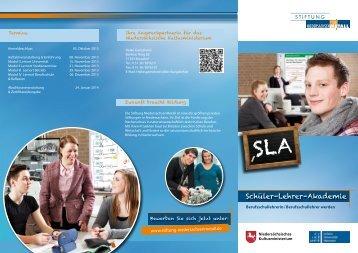 Flyer SLA - Stiftung NiedersachsenMetall