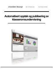 rapport - Norgesuniversitetet