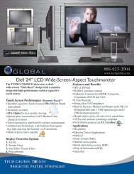 """Dell 24"""" LCD Wide-Screen-Aspect Touchmonitor - Tech Global"""